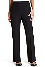 M&S Collection Flat Front Side Zip Slim Leg Trousers