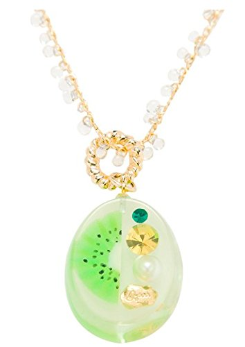 [Q-pot. Kiwi Jerry Necklace Fashion Jewelry Accessories New From Japan] (Vintage Costume Jewelry Images)