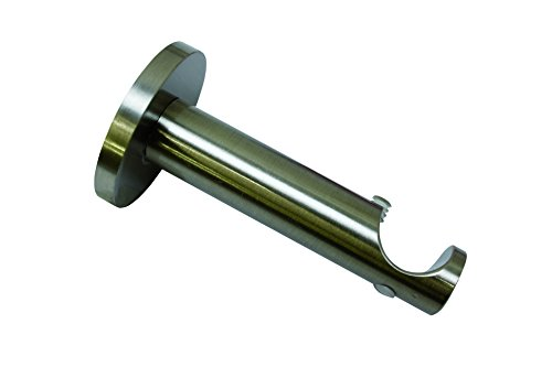 Gardinia support pour tringles 10011152 1 rainure ouvert série chicago diamètre: 20 mm-acier