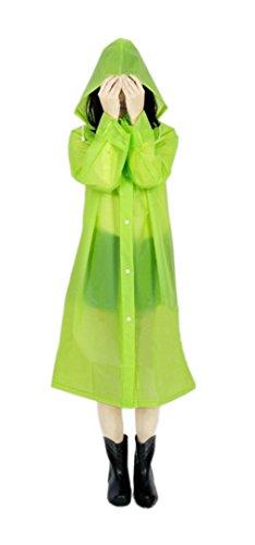 ColorDrip moda traslucido impermeabile indumenti impermeabili Rain Jacket per donna ragazza Lady - Fatto di Eco-friendly di alta qualità EVA Materiale Verde