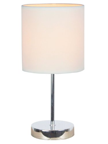 simple-designs-lt2007-wht-chrome-mini-basic-table-lamp-with-fabric-shade-white