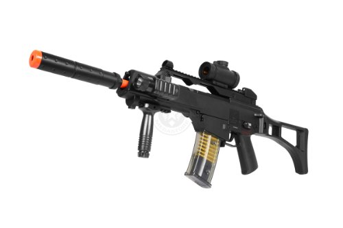 DE R36C TacSpec Electric AEG Rifle w/ Flashlight and Red Dot Scope