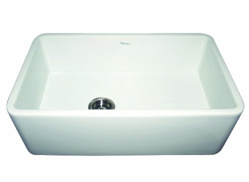 Buy Cheap Whitehaus WH3018-WH Duet 30-Inch Reversible Fireclay Sink with Smooth Front Apron, White