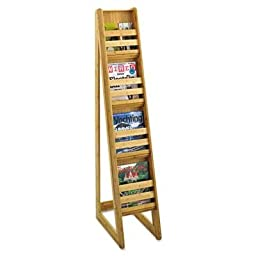 Safco - Bamboo Magazine/Pamphlet Floor Display 10W X 18-1/4D X 56-1/2H Natural \