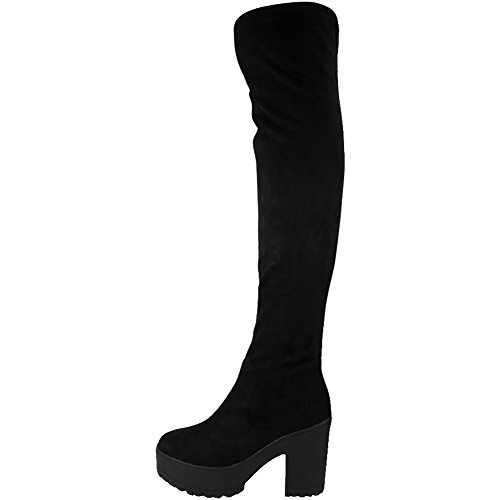 black-size-5-womens-over-the-knee-thigh-high-cleated-sole-faux-suede-boots-chunky-platform-boots-fit