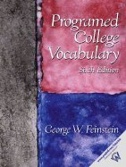 Programed College Vocabulary / Text Only (6th, 02) by Feinstein, George W [Paperback (2001)] (Programed College Vocabulary compare prices)