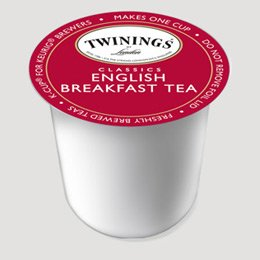 Twinings English Breakfast Tea 50-Count K-Cups for Keurig Brewers with 2 Free Sample Teas