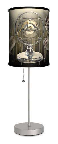 Music - Microphone Sport Silver Lamp