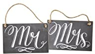 Mr. & Mrs. Chalk Signs (Set of 2)