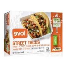 Evol Sweet Potato Black Bean and Goat Cheese Street Taco, 5.96 Ounce -- 8 per case.
