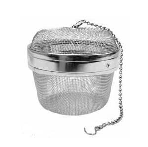 New Twist-Lock Spice Ball Tea Infuser Herb Infuser, Stainless Steel, Extra Large Size (4 ¼ x 3 ½