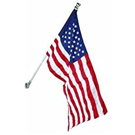 Valley Forge 2-1/2-Foot x 4-Foot Nylon U.S. Flag Kit With Sewn Stripes And Aluminum Spinning Pole