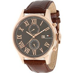 Tommy Hilfiger 1710292 - Reloj de pulsera hombre, piel, color marrón