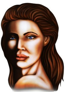 """24"""" female celebrity head shot removable reusable peel and stick wall decal for any smooth surface indoor use.."""
