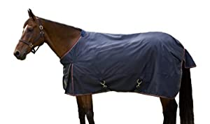 Kensington KPP All Around Euro Solid Lightweight Turnout Blanket, Navy, 84