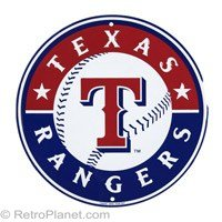 Texas Rangers 12 inch Baseball Style Metal Circle Sign at Amazon.com