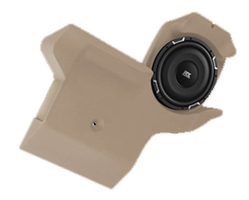 """Mtx """"Thunderform 2"""" 10"""" Custom Subwoofer Enclosure For Chevy Colorado Crew Cab Trucks & Gmc Canyon (Tan) With Upgraded Subwoofer"""