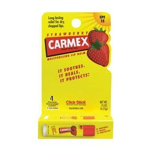 Carmex Lip Balm .15 oz. Strawberry (Pack of 12)
