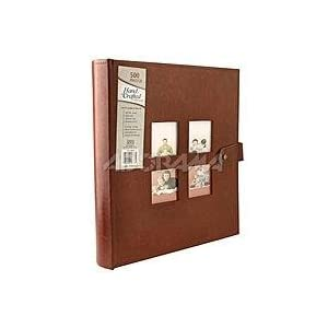 "Kleer-Vu Photo / hand Crated Bonded Leather Collection, Holds 500 4"" x 6"" Photos, 5 Per Page. Color: Brown."