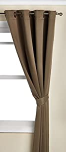 """Best Home Fashion Olive Solid Grommet Top Thermal Insulated Blackout Curtain 52""""W X 84""""L 1 Pair - GT"""