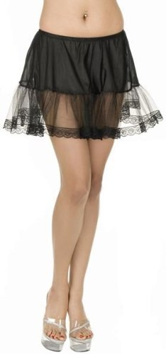 Black Sexy Adult Lace Petticoat Slip Womens Plus Size