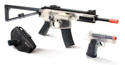 Crosman AirSoft 2-Gun Kit (Clear/Black)