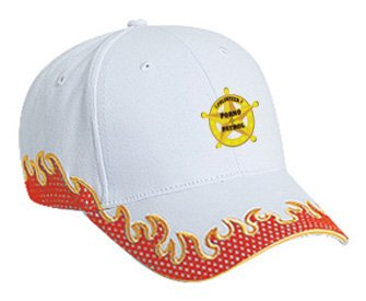 VOLUNTEER PORNO PATROL Orange Flame Hat / Baseball Cap