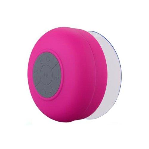 Zps Wireless Mini Waterproof Bluetooth Suction Shower Car Handsfree Mic Speaker (Hot Pink)