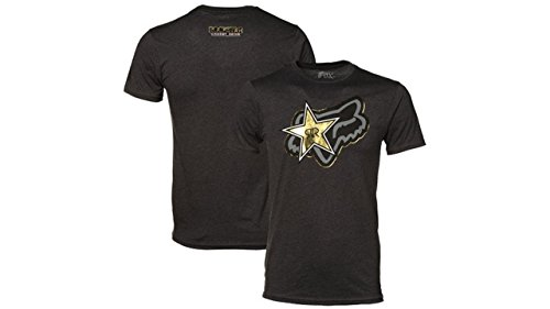 Fox Racing Men's Rockstar Energy Drink Stellar Tee T Shirt - Heather Black (Medium) (Rockstar Energy Drink Motocross compare prices)