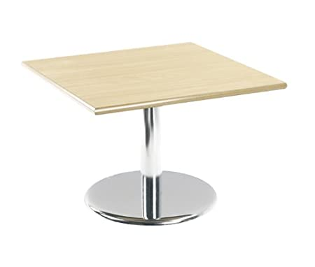 Coffee Table Dams COF7B Round Coffee Table Chrome with Trumpet Base 400X700X700 - Beech