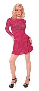 Suddenly Fem Swing Dress in Burgundy Swirl for Crossdressing and Transgender