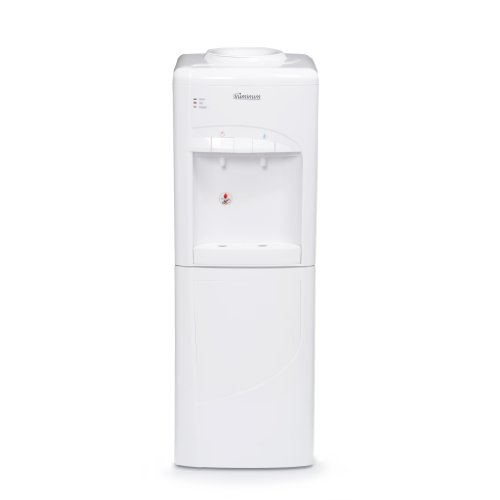 Iluminum ILUS111 33 Inch Freestanding Water Cooler Dispenser With Storage  Cabinet Hot And Cold,