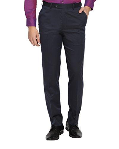 SUITLTD Blue Solid Slim Fit Trouser