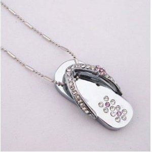 High Quality 8 GB Slipper Shape Crystal Jewelry