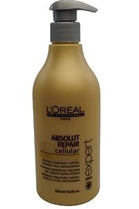 L'Oréal Professionnel - Shampooing Réparateur Cellulaire pour Cheveux très Abimés - Absolut Repair Cellular - 500 ml