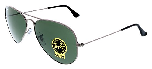Ray-Ban RB3025 Aviator Classic Metal Sunglasses - Gunmetal F