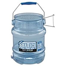 San Jamar SI6100 Original and Shorty Saf-T-Ice Tote, 5 gallon Capacity