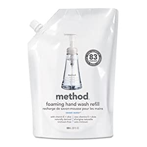 6 Pack Foaming Hand Wash Refill, 28 oz. Pouch, Sea Minerals by METHOD