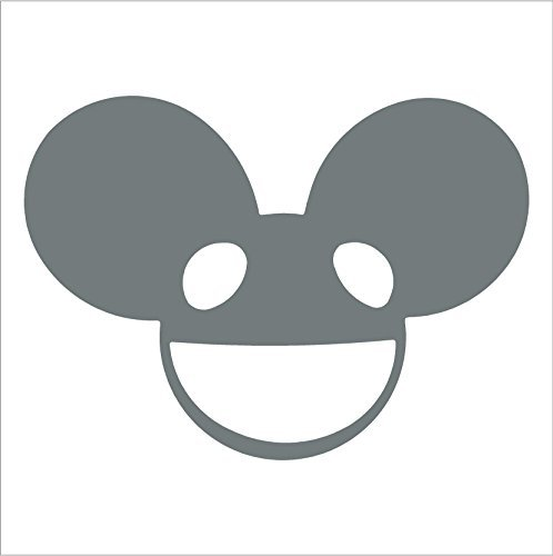 DEADMAU5 MOUSE HEAD FULL FRONT VIEW 5.5 GREY Vinyl Decal Window Sticker for Laptop, Ipad, Window, Wall, Car, Truck, Motorcycle by STUCKUP Decals (Deadmau5 Mouse Head compare prices)
