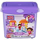 Mega Bloks Dora's Art Adventure Building Blocks Bucket (2901)