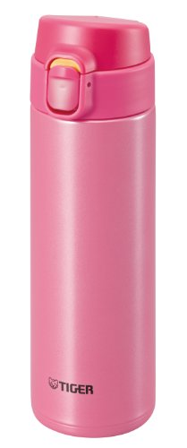 TIGER Stainless Steel Mini bottle <Saharamagu> lightweight dream gravity one push 0.48L Pink MMY-A048-PP