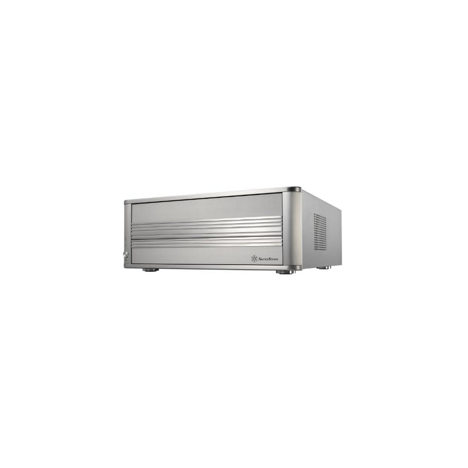 SilverStone Aluminum Standard ATX and Micro ATX HTPC Computer Case LC01S   Retail (Silver)