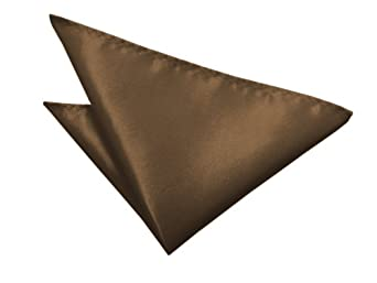 Plain Satin Handkerchief | Pocket Square (Brown)