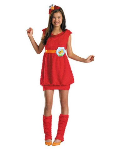 Elmo Teen 10-12 Kids Girls Costume