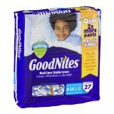 Goodnites Bedtime Underwear Large/Extra Large, Boys, 27 CT (Pack of 3)