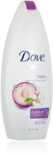 Dove Body Wash, go fresh, Rebalance, Plum and Sakura Blossom, 24 Ounce