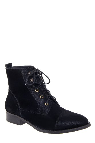 Chelsea Crew Tribute Low Heel Cap Toe Lace Up Bootie