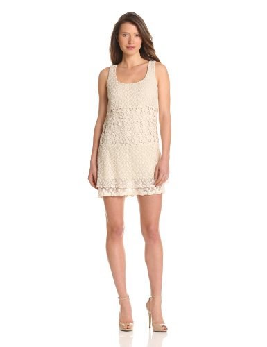 Bailey 44 Women's Fiesta Crochet Sleeveless Dress, Off-White, Small