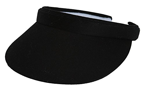Sports Cotton Twill Visor - Black (Sun Visor Hats Sport compare prices)