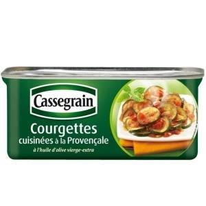 Cassegrain, Courgettes cuisinees a la provencale, la boite de 185 gr